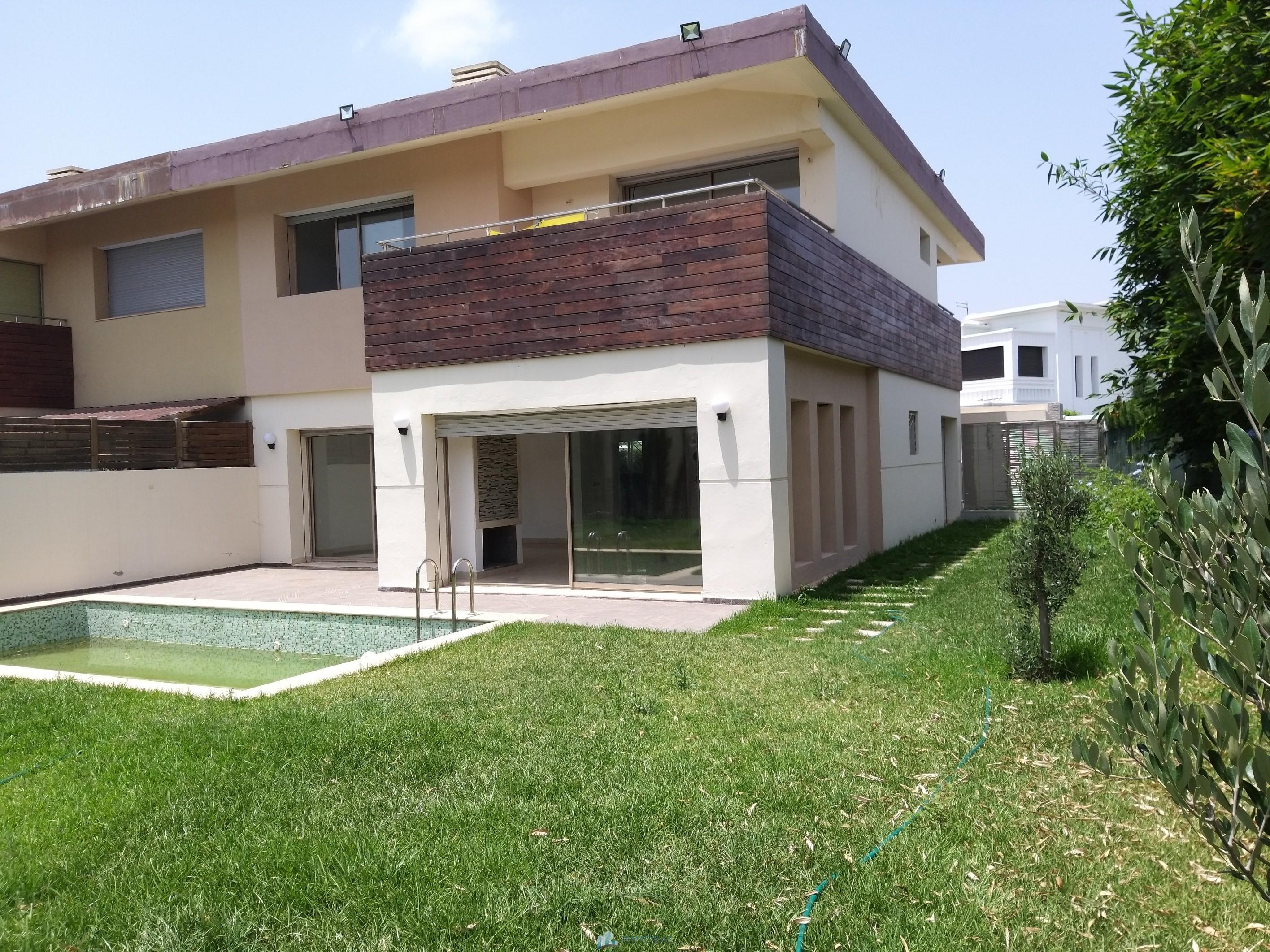Location Villa vide Bouskoura casablanca